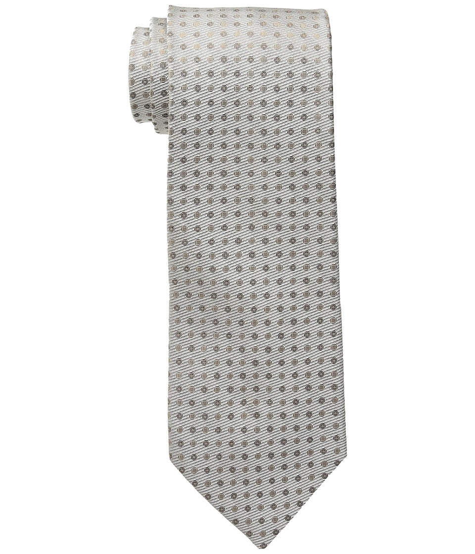 Calvin Klein - Ribbed Duo Dot (Taupe) Ties