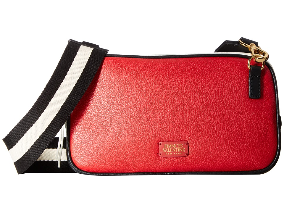 Frances Valentine - Lucy Crossbody (Black/White) Cross Body Handbags