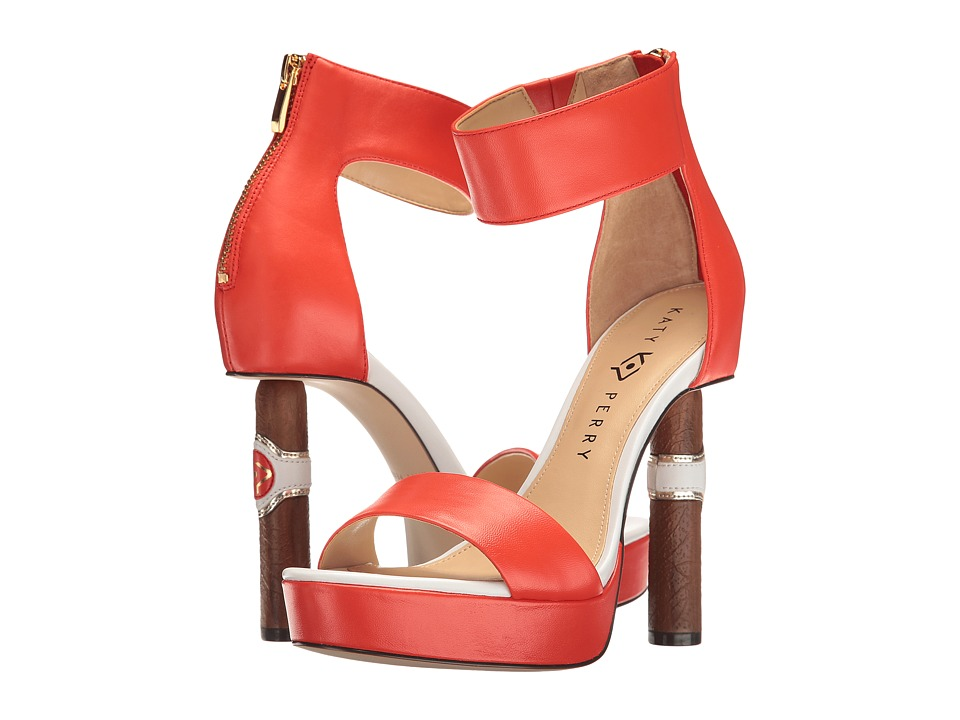 Katy Perry - The Jackie (Red/Orange Nappa) Women's Shoes