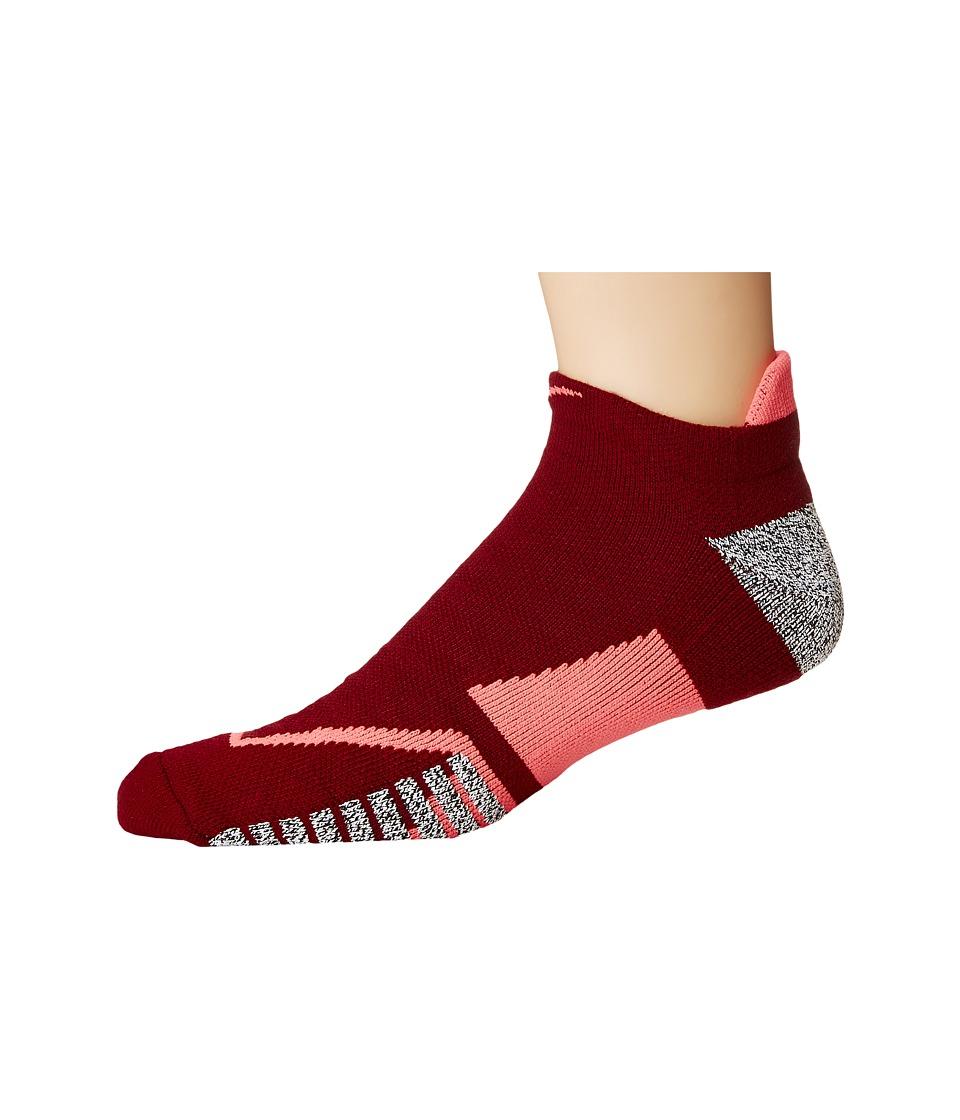 Nike NIKEGRIP Elite No Show Tennis Socks (Team Red/Hot Punch/Hot Punch) No Show Socks Shoes