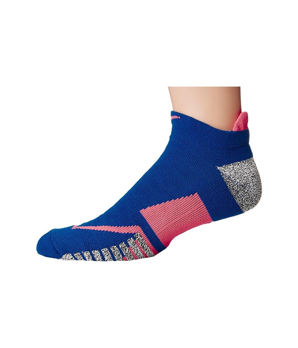 Nike NIKEGRIP Elite No Show Tennis Socks (Blue Jay/Hot Punch/Blue Jay) No Show Socks Shoes