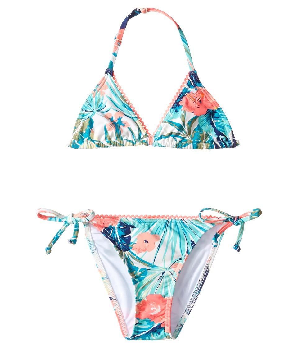 Roxy Kids - Jungle Poem Tri Set (Big Kids) (Marshmallow/Tac-O-Tac Flower) Girl's Swimwear Sets