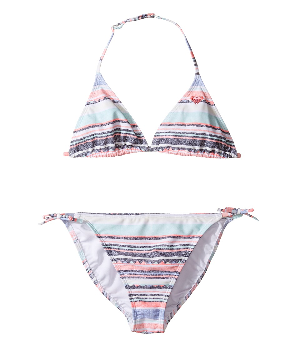 Roxy Kids - Little Indy Tri Set (Big Kids) (Beach Glass/Sombrero Stripe) Girl's Swimwear Sets