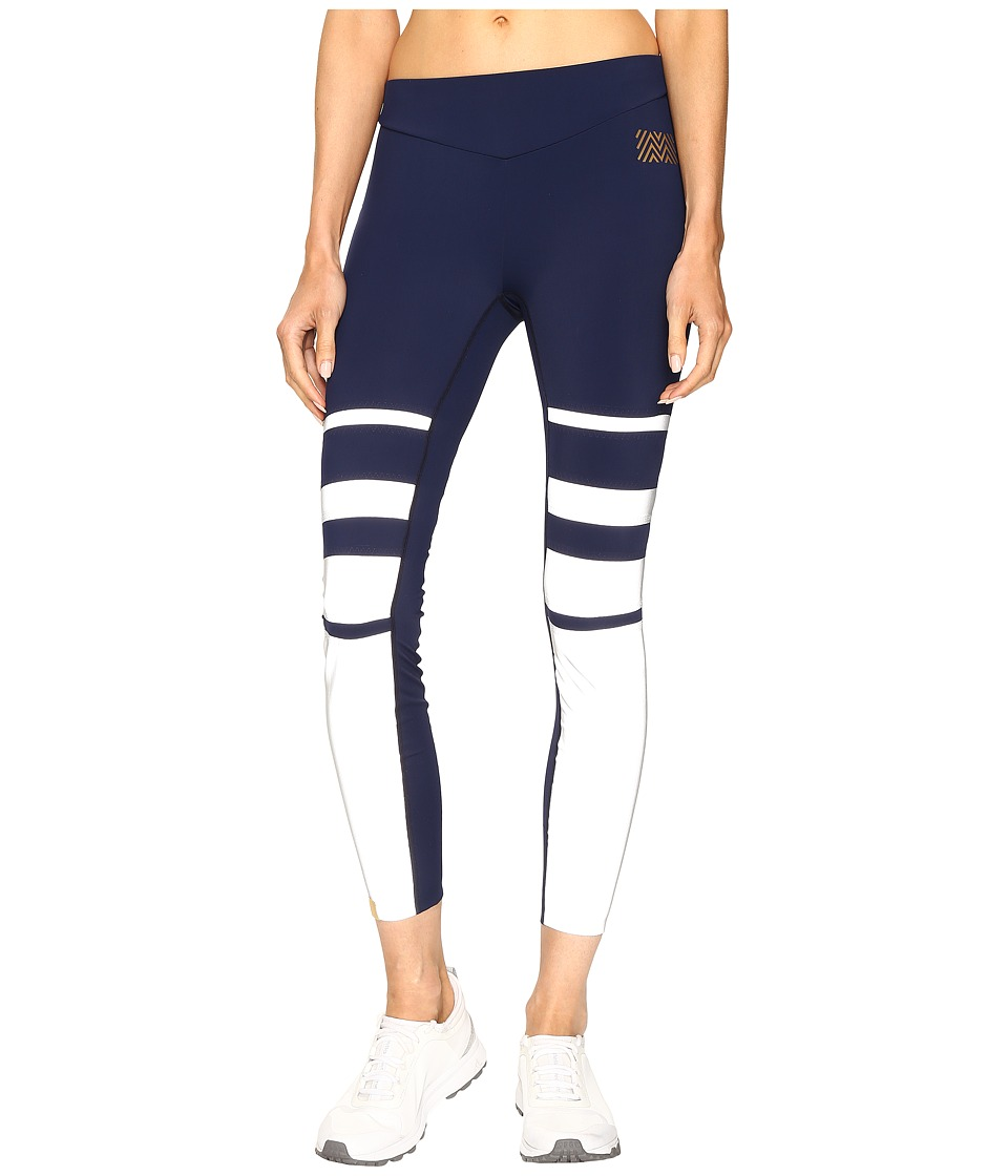 Monreal London - Graduation Leggings (Midnight/Reflective Stripes) Women's Casual Pants