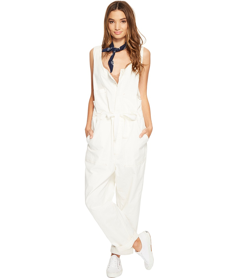 Free People - Work It Jumpsuit (Ivory) Women's Jumpsuit & Rompers One Piece