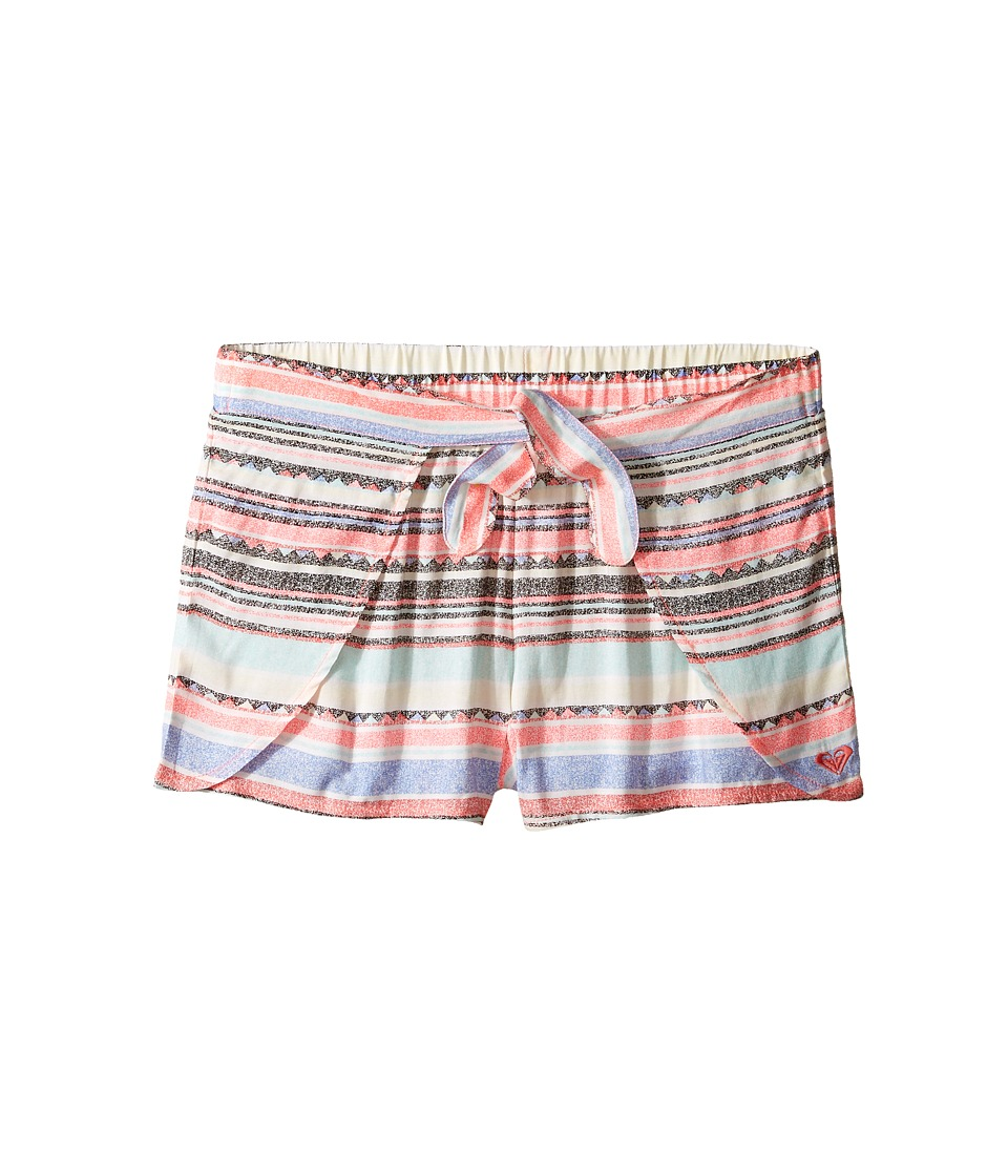 Roxy Kids - Little Indy Shorts Cover-Up (Big Kids) (Beach Glass/Sombrero Stripe) Girl's Swimwear