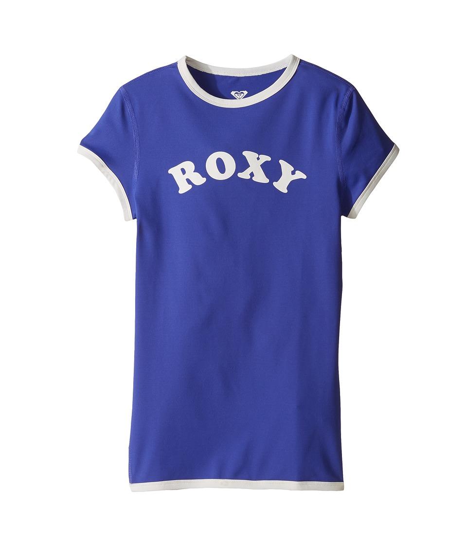 Roxy Kids Sunset Short Sleeve Rashguard (Big Kids) (Royal Blue) Girl