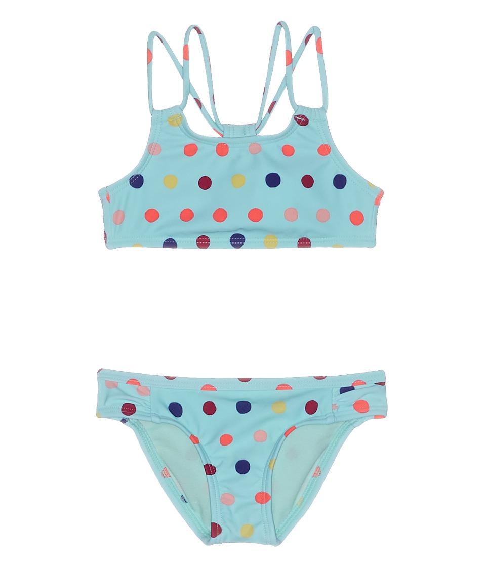 Roxy Kids Rainbow Dots Athletic Set (Toddler/Little Kids/Big Kids) (Beach Glass/Toudou Dots) Girl
