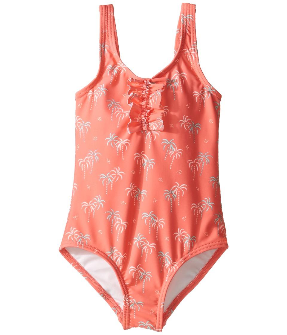 Roxy Kids - Palmy Tiny One-Piece (Toddler/Little Kids/Big Kids) (Sugar Coral/Palm Tiny) Girl's Swimsuits One Piece