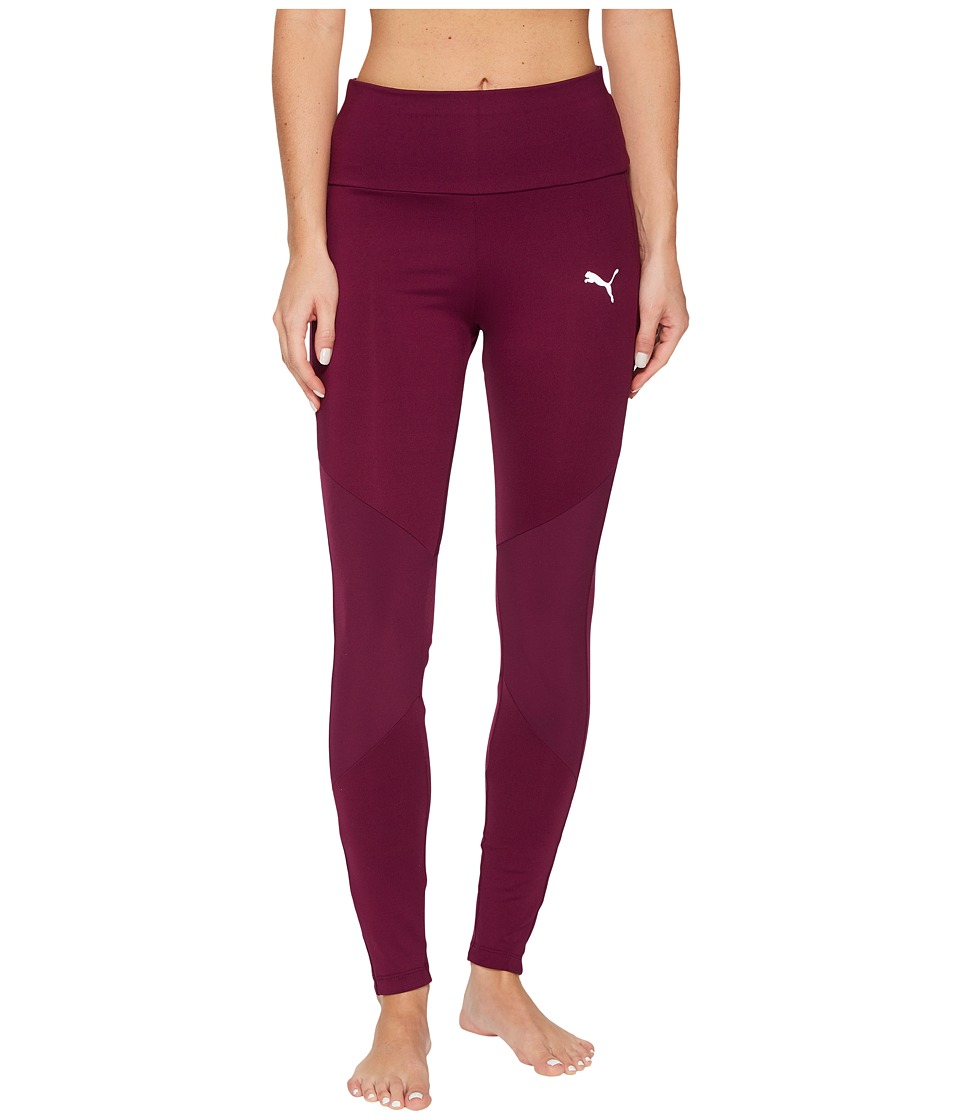 PUMA - Transition 7/8 Leggings (Dark Purple) Women's Casual Pants