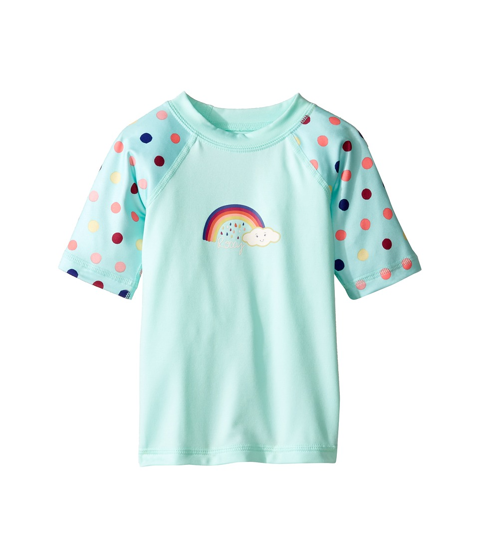 Roxy Kids - Sweet Tooth Short Sleeve Rashguard (Infant) (Beach Glass) Girl's Swimwear