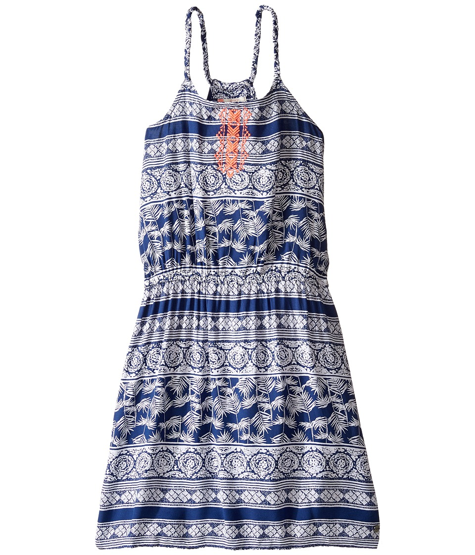 Roxy Kids - Lovely Messenger Dress (Big Kids) (Blue Depths/Tropic Wax) Girl's Dress