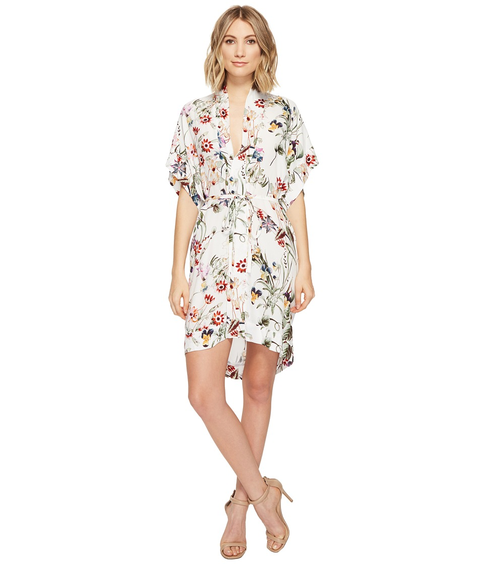 Brigitte Bailey - Zanna Short Sleeve Floral Dress (Cream/Multi) Women's Dress