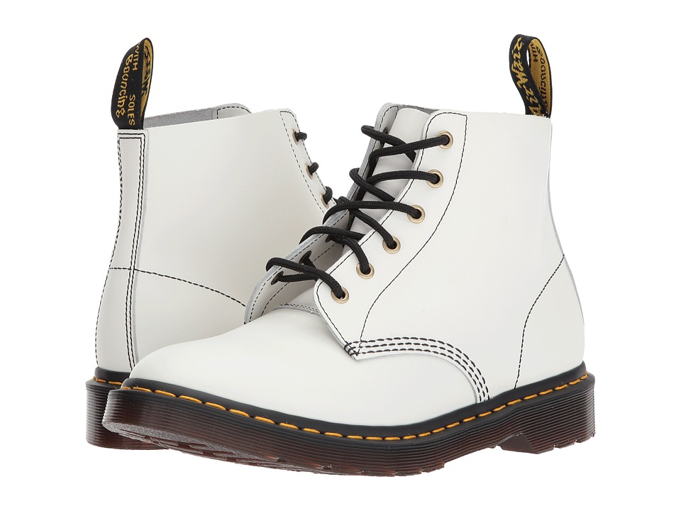 Dr. Martens - 101 Smooth Archive 6-Eyelet Boot (White Smooth) Boots