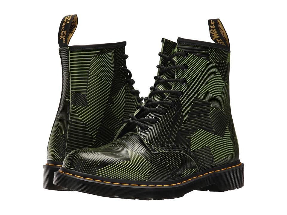 Dr. Martens 1460 8-Eye Boot (Neon Yellow/Black Geostripe) Men