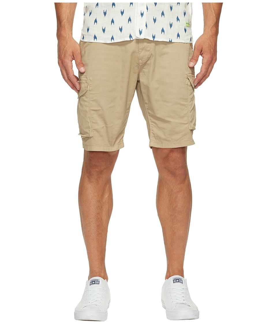 Scotch & Soda - Garment Dyed Cargo Shorts in Stretch Cotton Quality (Sand) Men's Shorts
