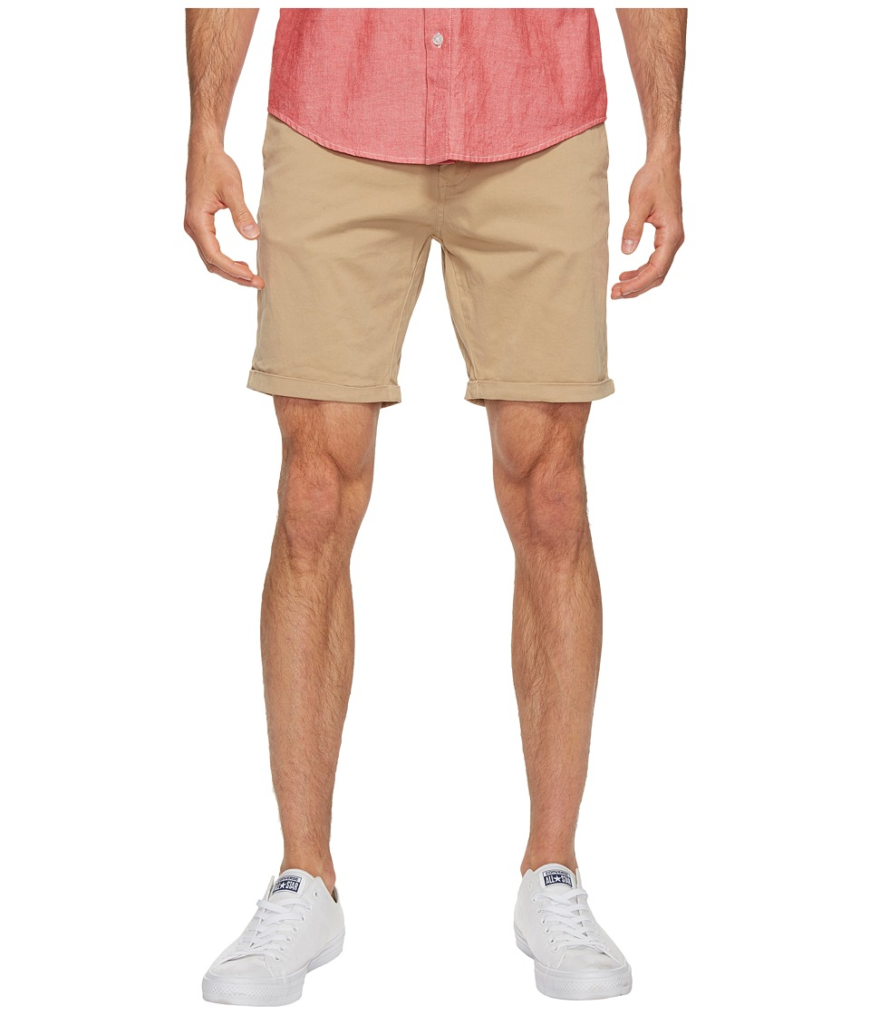 Scotch & Soda - Classic Garment Dyed Chino Shorts in Stretch Cotton Quality (Sand) Men's Shorts
