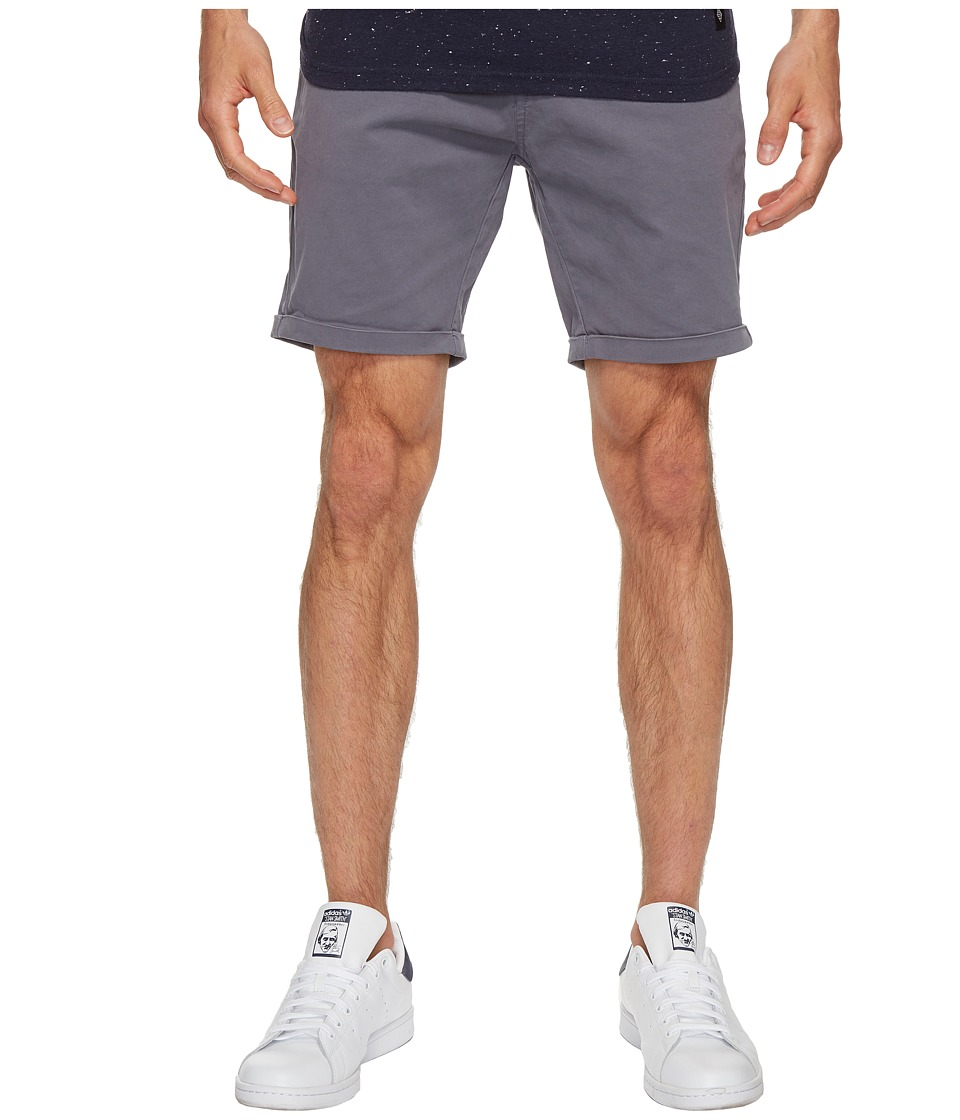 Scotch & Soda - Classic Garment Dyed Chino Shorts in Stretch Cotton Quality (Steel) Men's Shorts