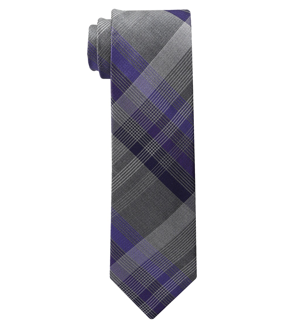 Kenneth Cole Reaction - 3 Color Plaid (Purple) Ties