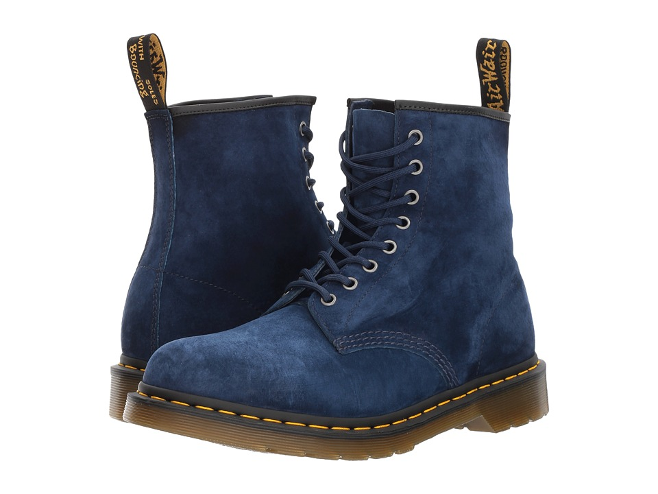 Dr. Martens 1460 8-Eye Boot (Indigo Soft Buck) Lace-up Boots