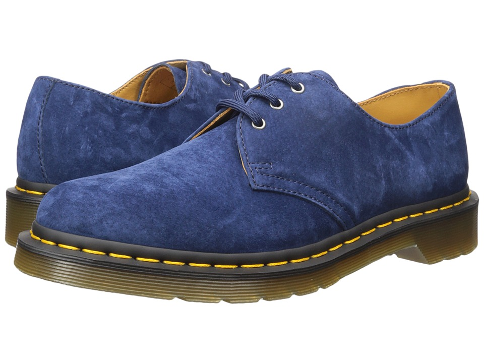 Dr. Martens - 1461 3-Eye Shoe (Indigo Soft Buck) Lace up casual Shoes
