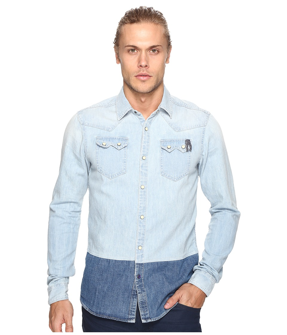Scotch & Soda - Ams Blauw Denim Sawtooth Shirt (Washed Indigo) Men's Clothing