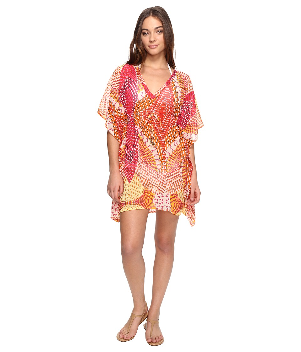Echo Design - Havana Geo Silky Butterfly Cover-Up (Hibiscus Pink) Women's Swimwear