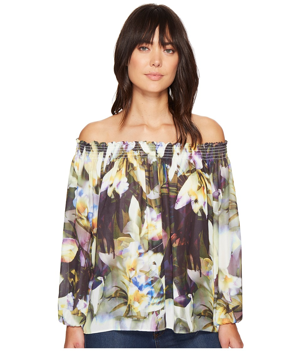 Nicole Miller - Rocky Daffodil Printed Top (Multi) Women's Clothing