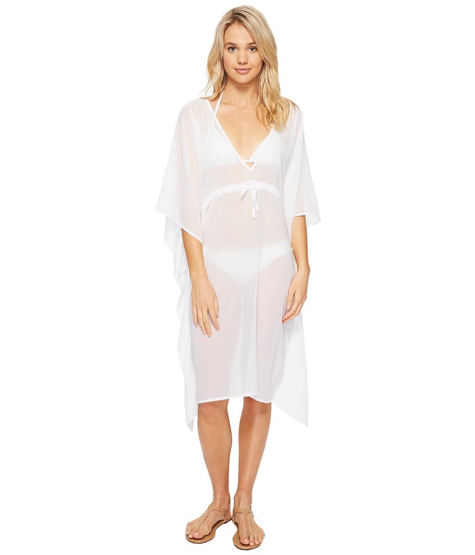 Echo Design - Solid Double V Cover-Up (White) Women's Swimwear