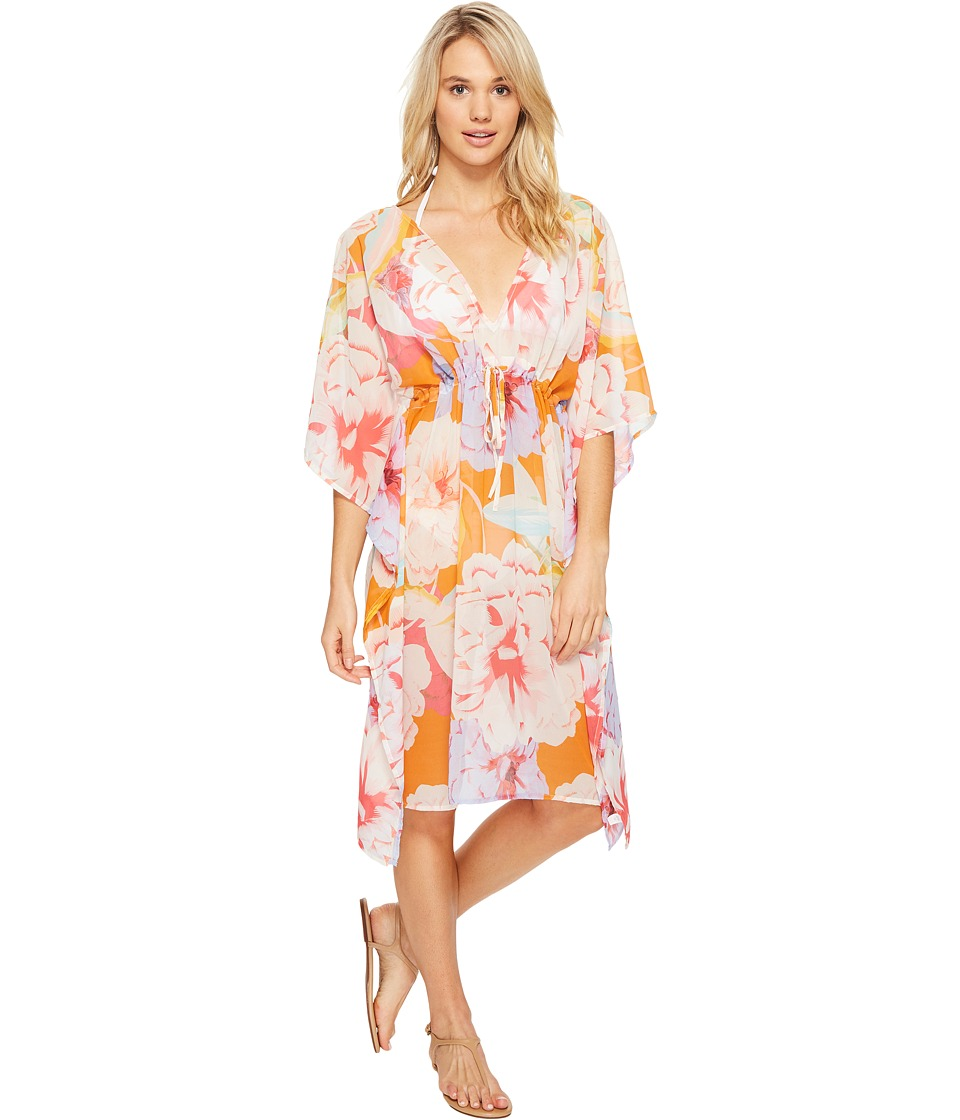 Echo Design - Cambon Floral Double V Cover-Up (Caribbean) Women's Swimwear