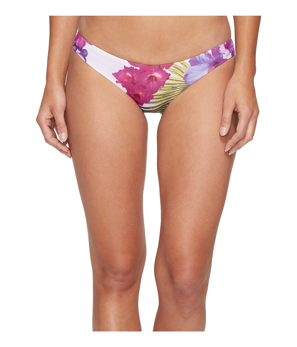 Nicole Miller La Plage by Nicole Miller Sandy Cheeky Bottom Tossed Hibiscus Print Womens Swimwear