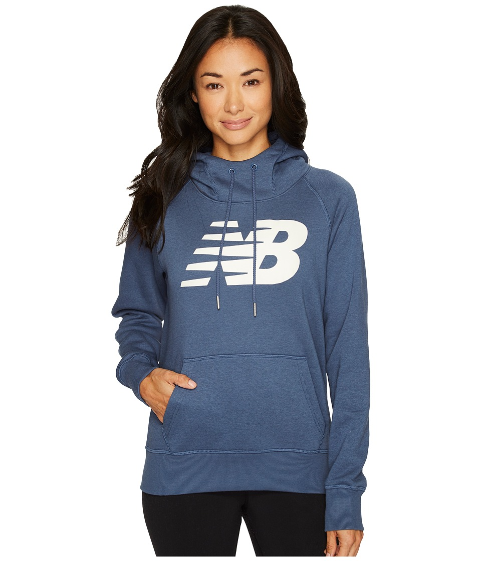 New Balance - Essentials Pullover Hoodie (Vintage Indigo) Women's Fleece