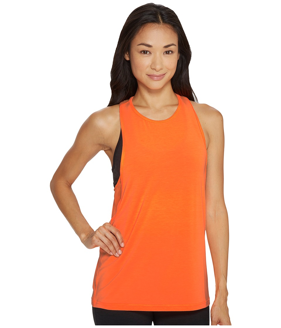 New Balance - Boyfriend Tank Top (Vivid Tangerine Heather) Women's Sleeveless