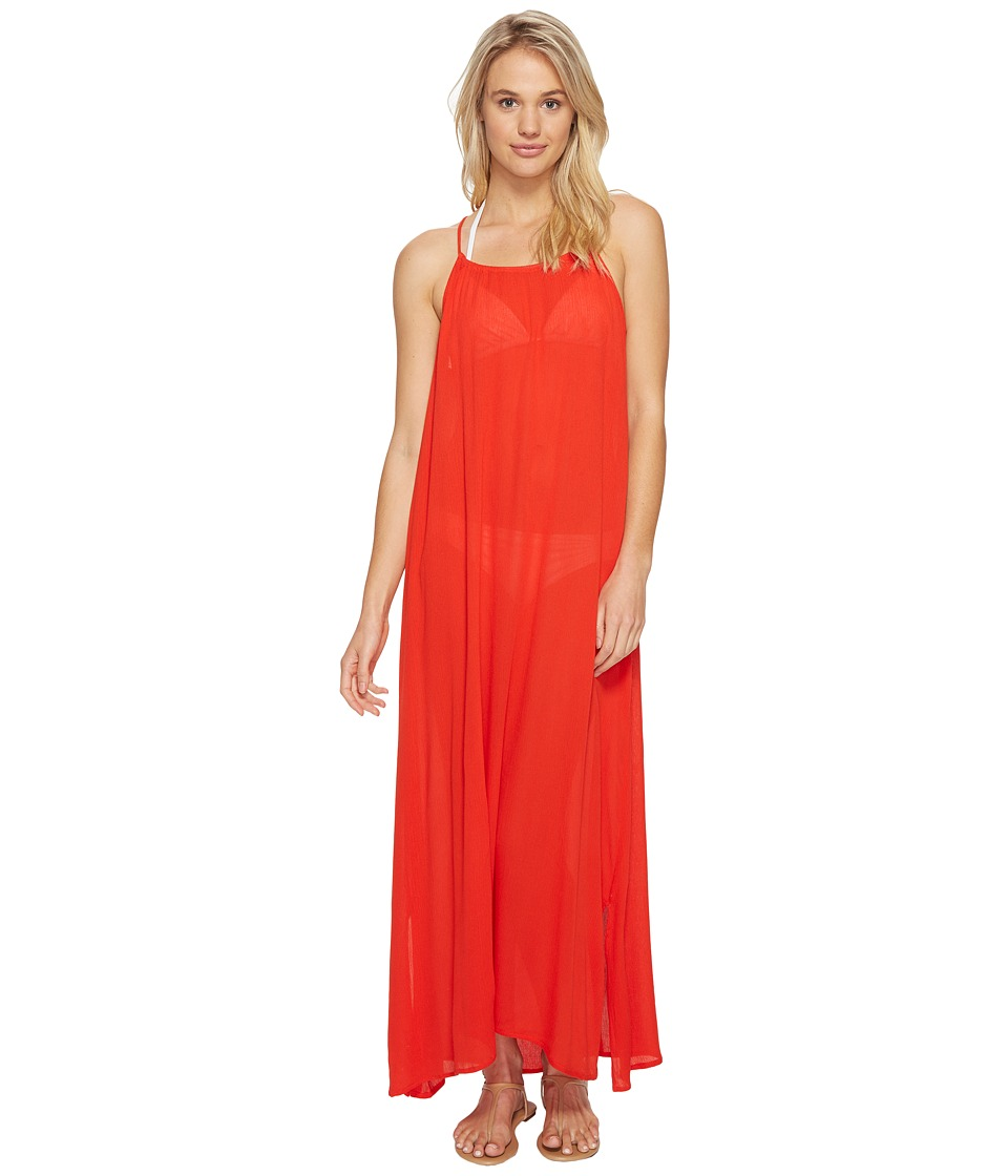 Echo Design - Solid Maxi Beach Dress (Rouge) Women's Dress