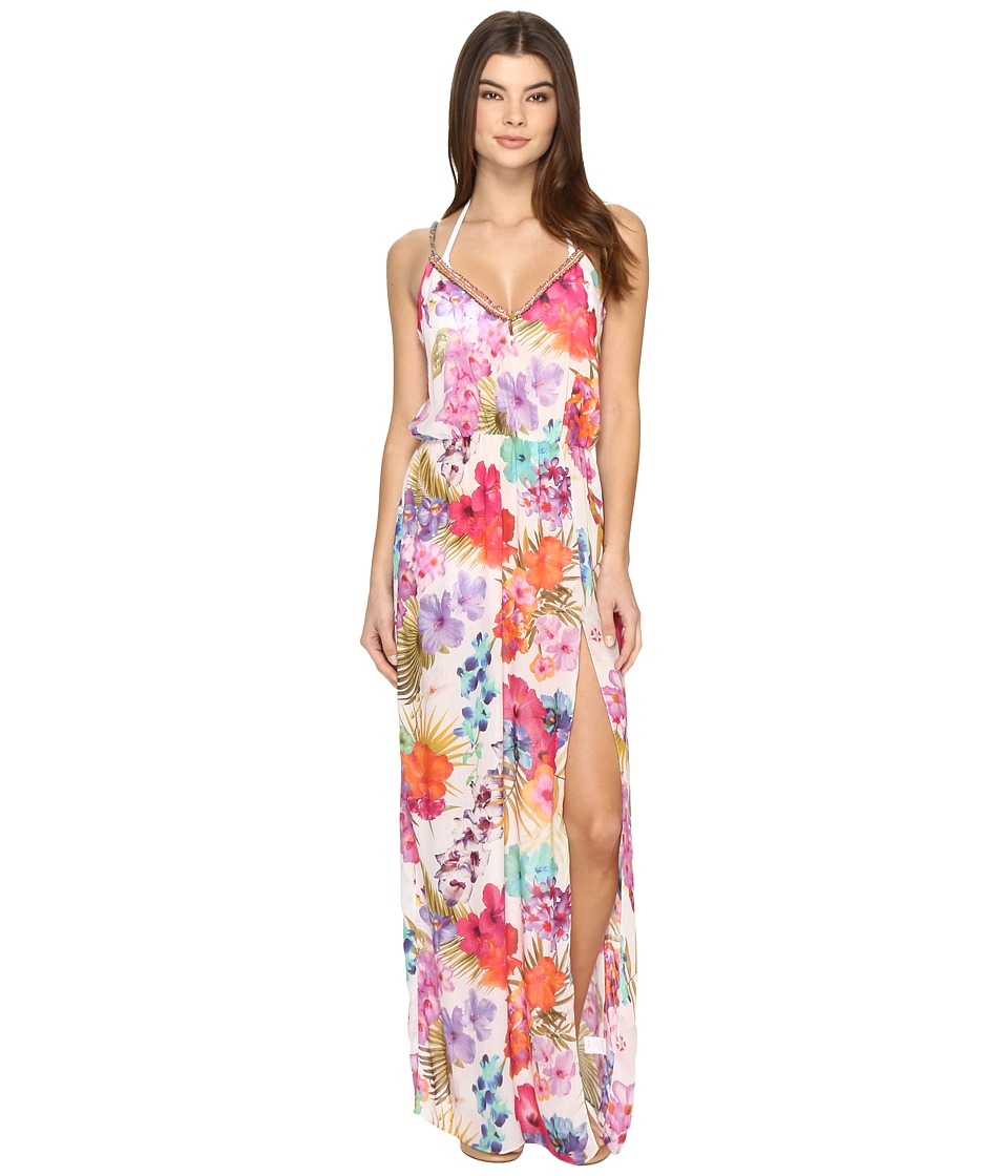 Nicole Miller La Plage By Nicole Miller Braided Tank Maxi Cover-Up (Multi) Women