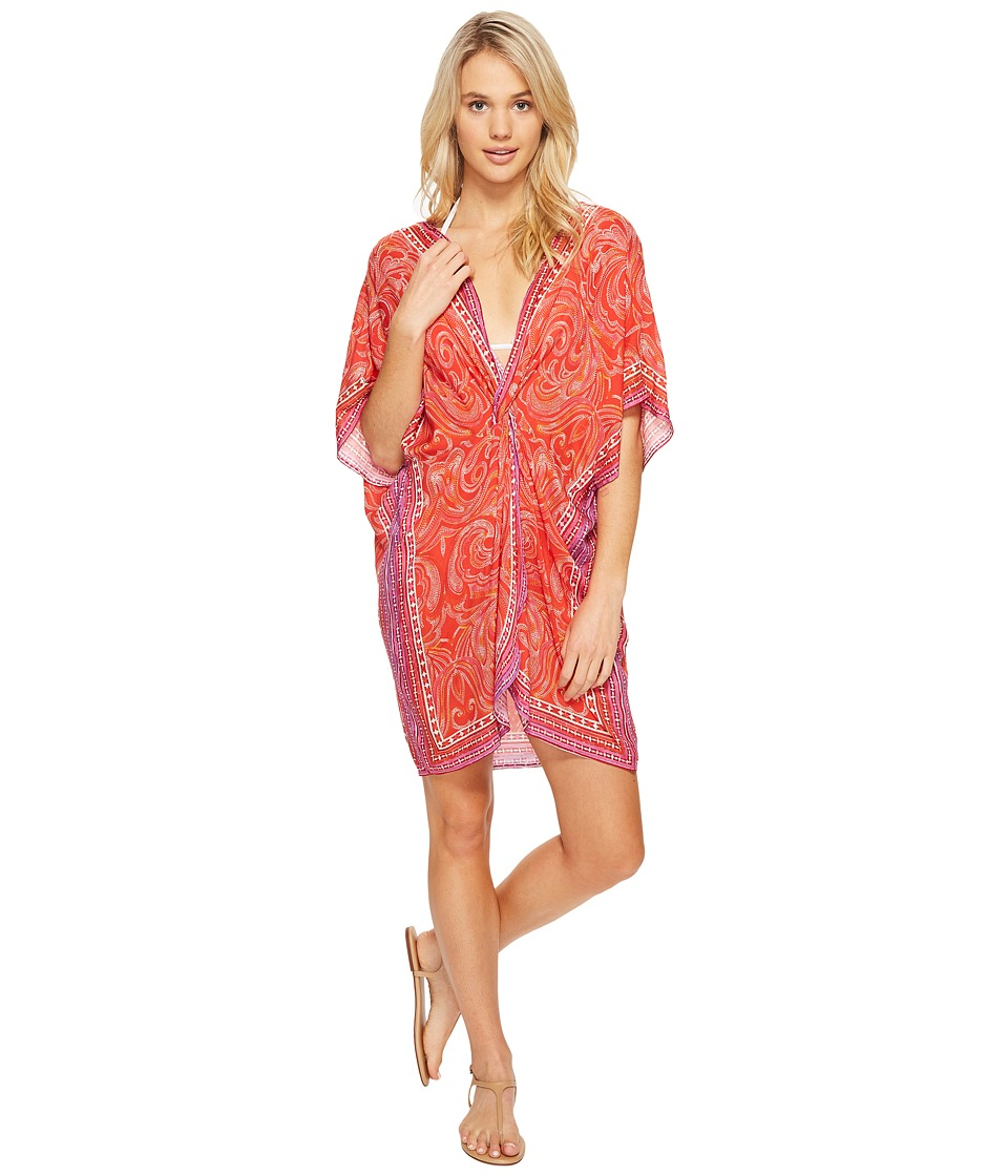 Echo Design - La Playa Paisley Twist Tunic Cover-Up (Rouge) Women's Swimwear