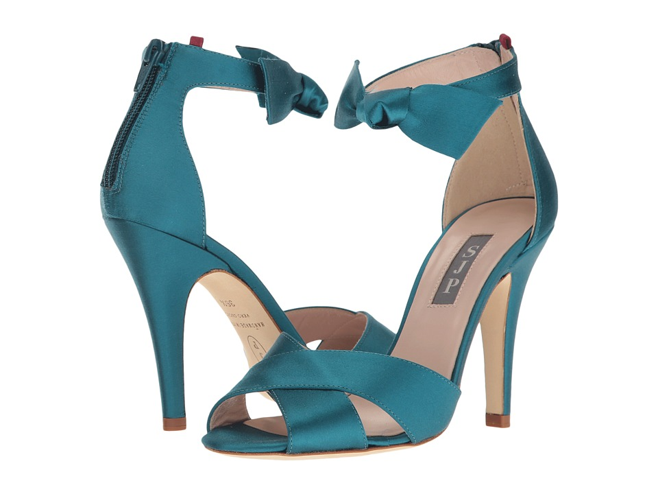 SJP by Sarah Jessica Parker - Buckingham (Teal Satin) Women's Shoes