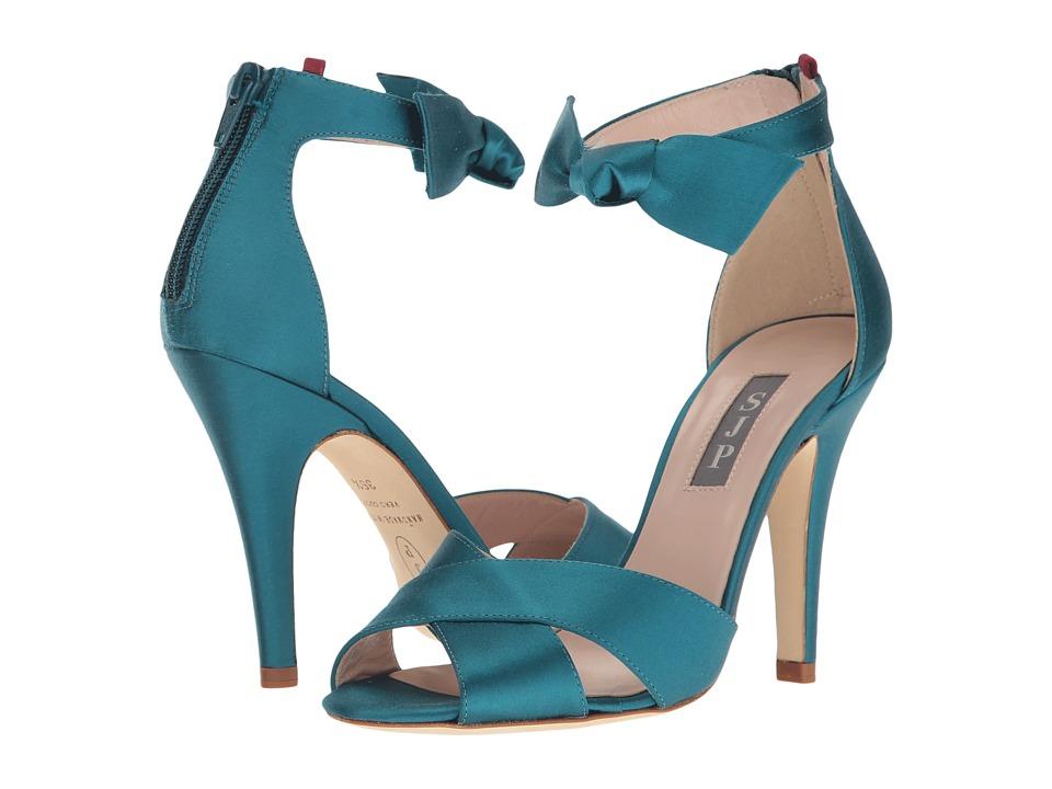 SJP by Sarah Jessica Parker - Buckingham (Teal Satin) Women's Shoes