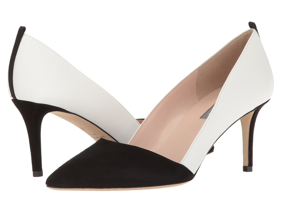 SJP by Sarah Jessica Parker - Rampling 70 (Black Suede/Milk Leather) Women's Shoes