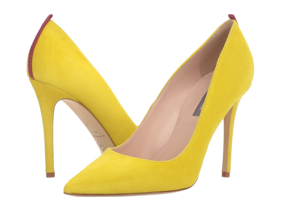 SJP by Sarah Jessica Parker - Fawn 100mm (Fleek Yellow Suede) Women's Shoes