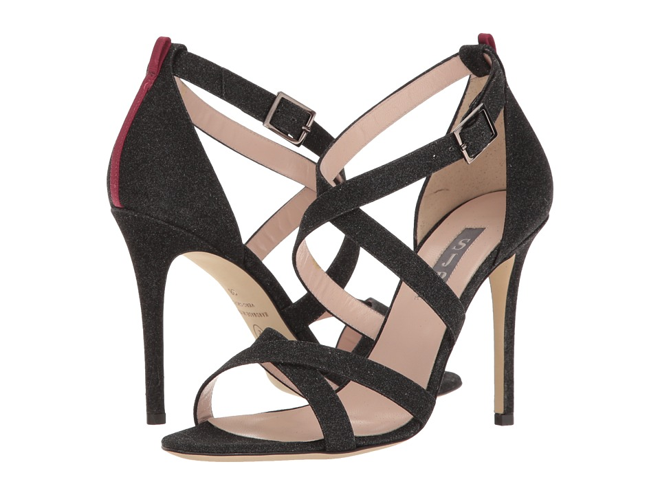 SJP by Sarah Jessica Parker - Strut (Doozy Black Glitter) Women's Shoes
