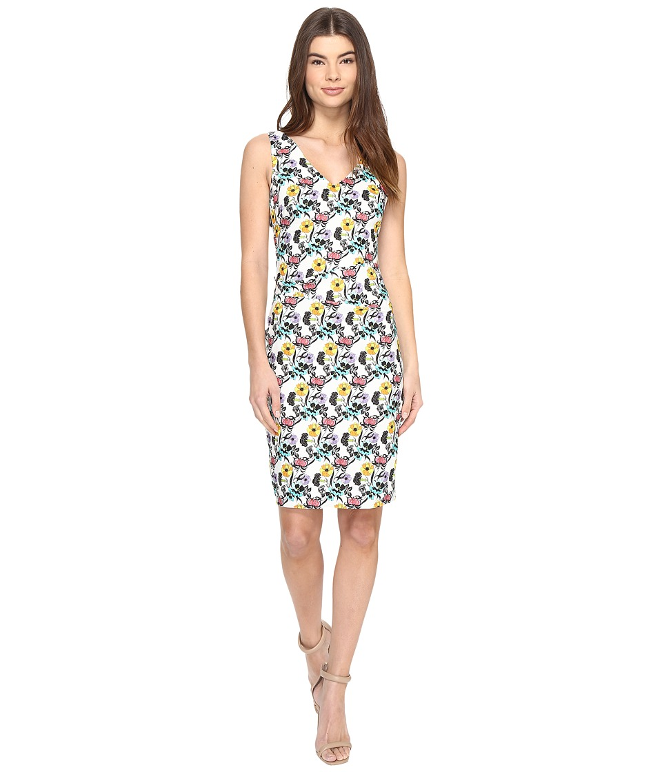 Nicole Miller Nouveau Trellis Kenna Dress (White Multi) Women's Dress