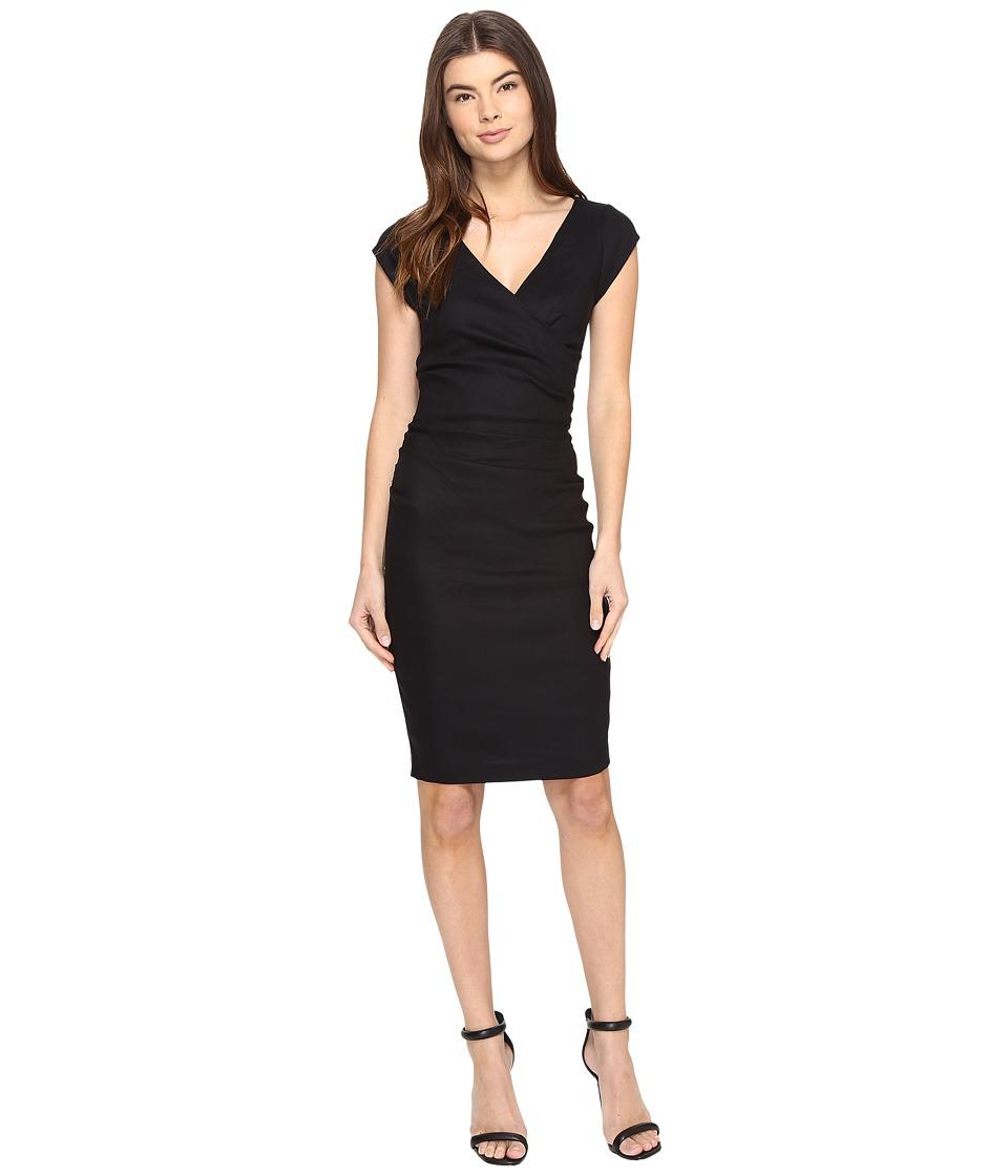 Nicole Miller - Linen Beckett Dress (Black) Women's Dress