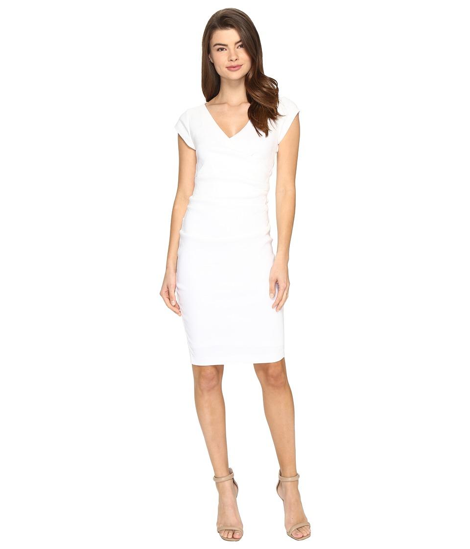 Nicole Miller - Linen Beckett Dress (White) Women's Dress