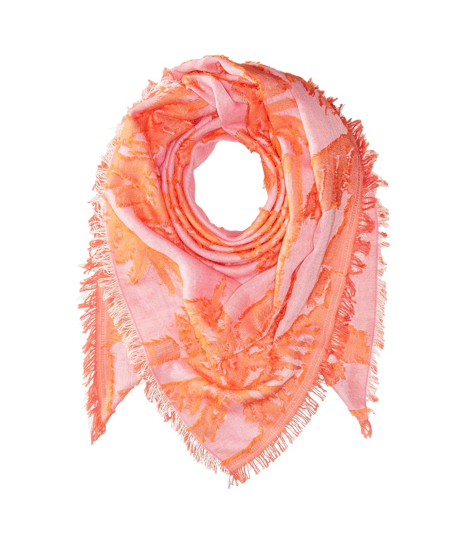 Echo Design - Palm Fringe Square Wrap Scarf (Hiscus Pink) Scarves
