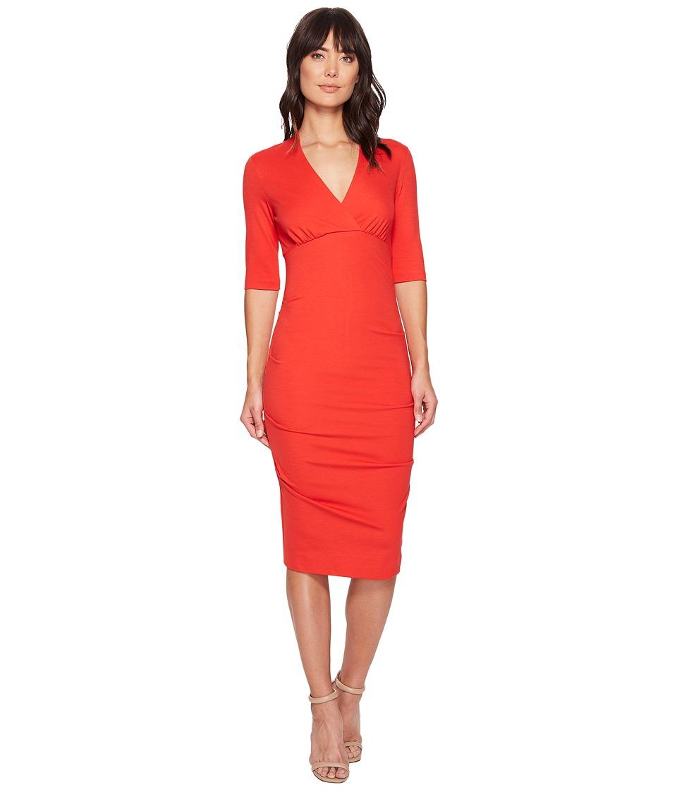 Nicole Miller Joss Ponte Dress (Papaya) Women
