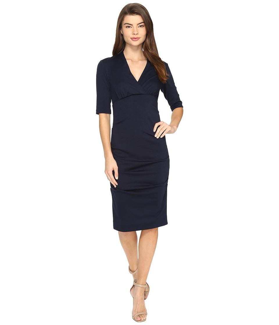 Nicole Miller - Joss Ponte Dress (Navy) Women's Dress