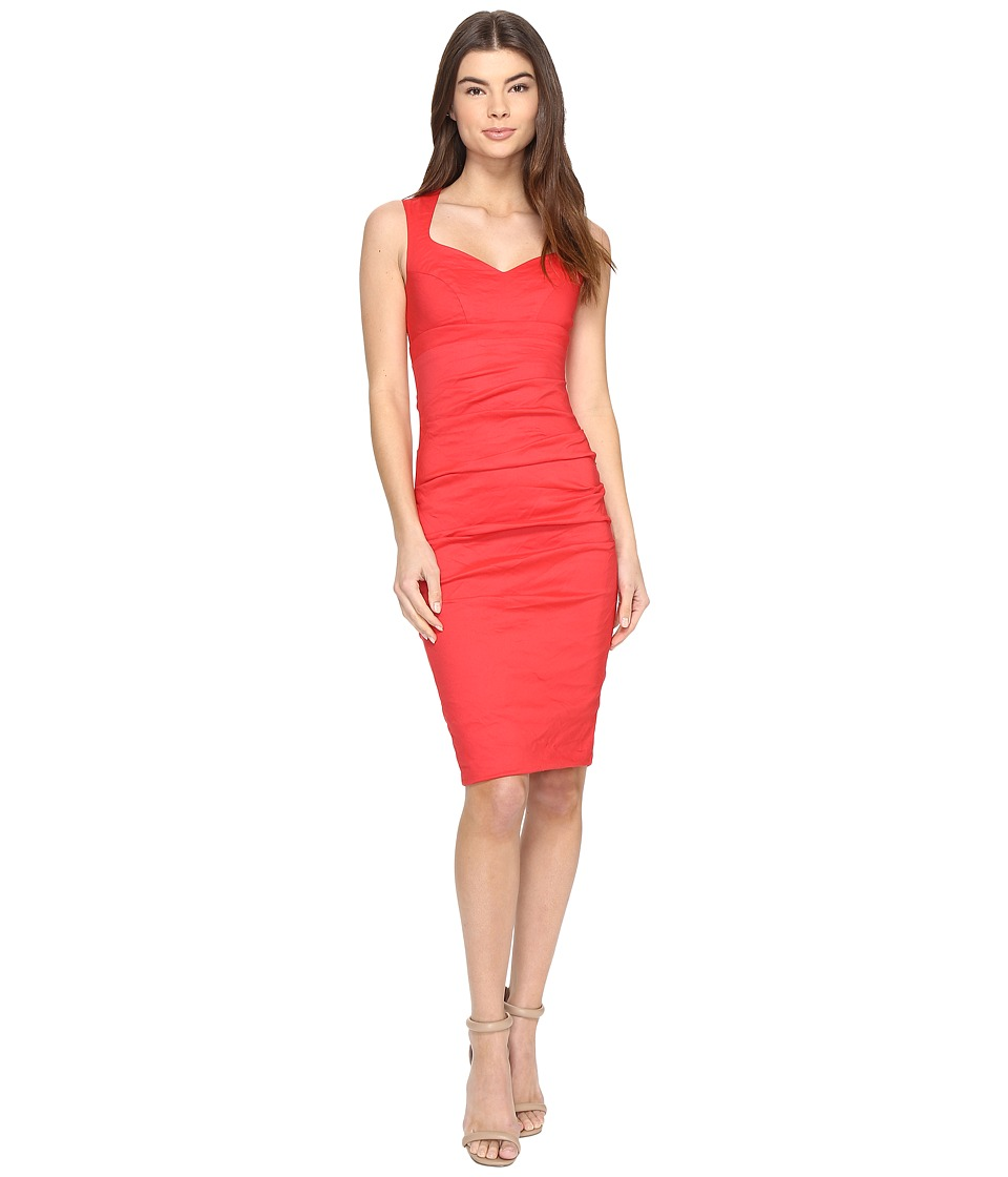 Nicole Miller - Santina Cotton Metal Party Dress (Watermelon) Women's Dress