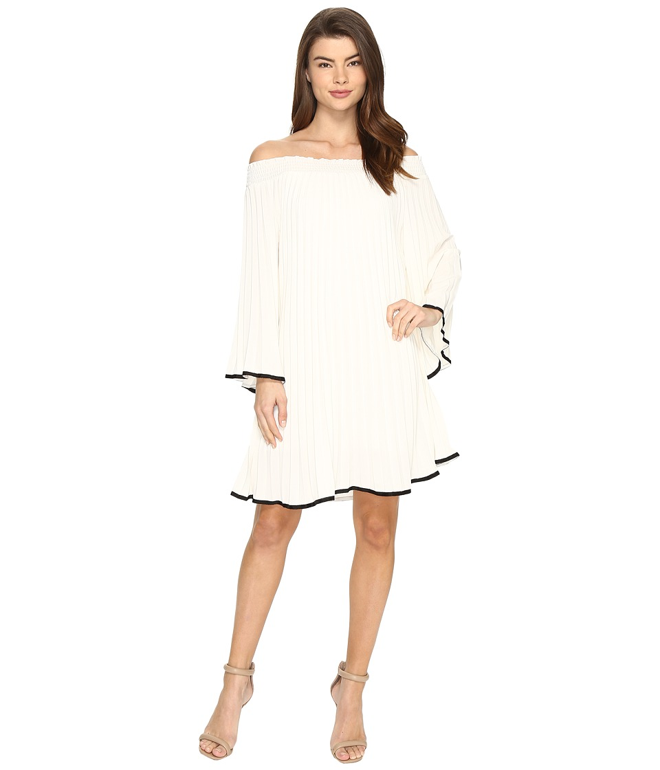 Nicole Miller - Rocco Pleated Dress (Ivory/Black) Women's Dress