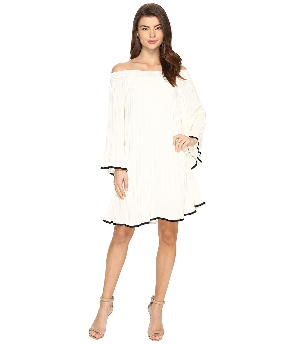 Nicole Miller - Rocco Pleated Dress (Ivory/Black) Women's Dress